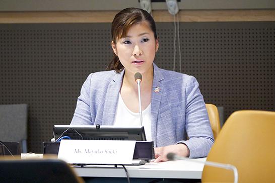 2018年から1年間、SDGsについて取り組んできた結果、社内でのSDGsに対する認知度が1年間で1.8%から43%に上がりました。また、インポスター症候群に対する日本国内の認知の状況などについてスピーチをおこないました。